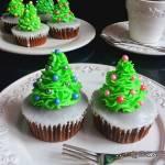 Babeczki - Bożonarodzeniowe Choinki