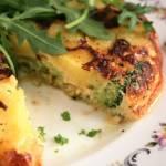 Frittata warzywna (z porem, ziemniakami i brokułem)