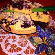 Ciasto z konfiturą z borówki i 2 urodziny bloga!