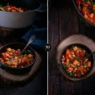 Jednogarnkowe proste danie z batatami i ciecierzycą