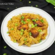 Kurczak curry z ryżem z piekarnika
