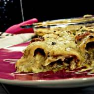 cannelloni z łososiem i porem w serowo-cytrynowym sosie
