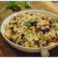 Ryzowa salatka z boczkiem i jablkami i Sing
