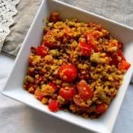 Sałatka z komosy ryżowej i soczewicy