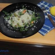 Cytrynowe risotto z małżami