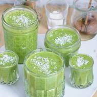 Zielony koktajl z kokosem