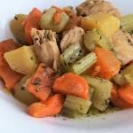Pierś kurczaka z warzywami z szybkowaru