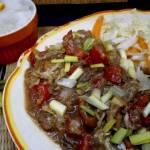 Wolowina w sosie ostrygowym