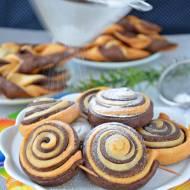 Faworki cake pops (faworki na patyku) i faworki dwa kolory (black&white)