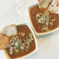Szybkie gotowanie: Zupa z żółtych warzyw z kurkami w ricottcie