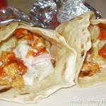 Tortilla II  z sosem czosnkowym,warzywami i mięsem