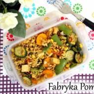 Kasza owsiana z tofu i warzywami