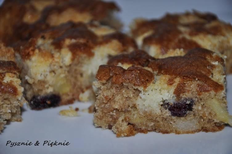 Ciasto żurawinowo - jabłkowe