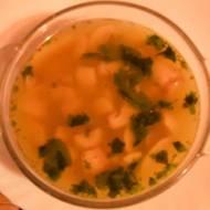 Zupa pieczarkowa z kaszą gryczaną i pietruszką