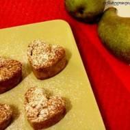 maślankowe muffinki owsiane z gruszką