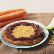 wegański omlet z marchewką i płatki owsianymi (bezglutenowy)