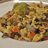 Karkówka z warzywami z WOK-a Ballarini