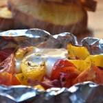 Jajka zapiekane w warzywach