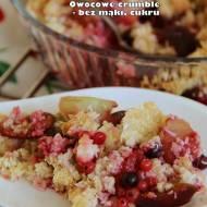 Owocowe crumble - bez mąki, cukru