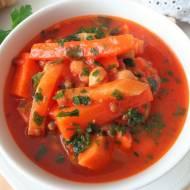 Zimowa zupa z soczewicy i ciecierzycy (Zuppa invernale con lenticchie e ceci)