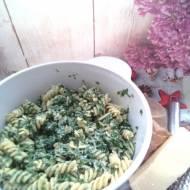Makaron ze szpinakiem i gorgonzolą