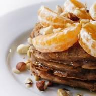 Pancakes z płatkami orkiszowymi i cynamonem (bez mleka)