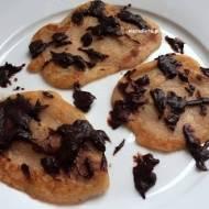 Placuszki bananowe z czekoladą. Wegańskie i bezglutenowe