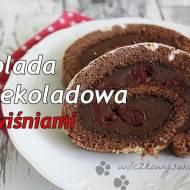 Rolada mocno czekoladowa z wiśniami