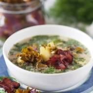 Zupa z kiszoną kalerosse