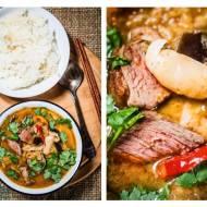Curry czerwone z kaczką, liczi i bakłażanem