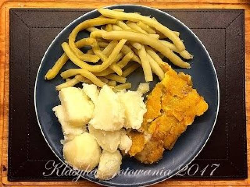 Mintaj z ziemniakami i fasolką