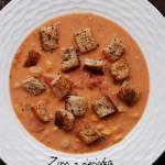 Zupa z cieciorką i kukurydzą