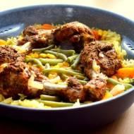 Duszone pałki z kurczaka z warzywami i ryżem - dietetyczne i zdrowe :)