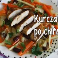 Kurczak glazurowany w miodzie z warzywami po chińsku