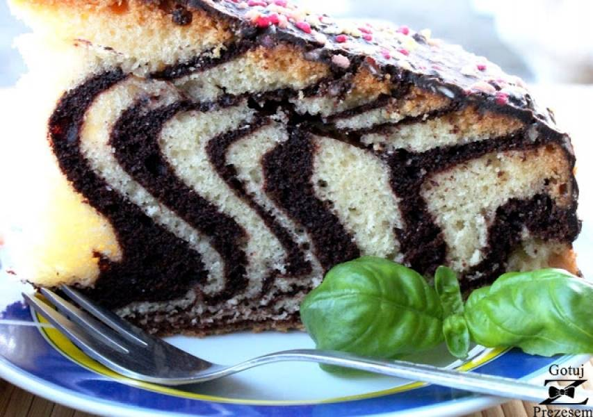 Ciasto zebra - najprostsze ciasto na świecie!