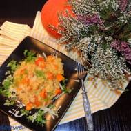 Dyniowe risotto z pieczarkami