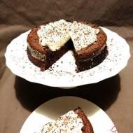 Upadłe ciasto czekoladowe bez mąki