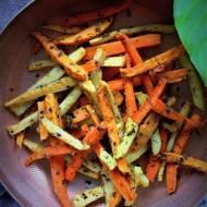 Warzywa korzeniowe pieczone w maśle orzechowym