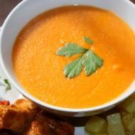 Zupa krem z czerwonej soczewicy i papryki