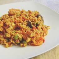 Pełnoziarnisty ryż z warzywami