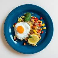 Jajko / kuskus / papryka / tuńczyk / w 15 min