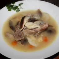 Zupa z indyka i shitake