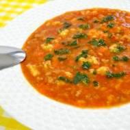 Zupa pomidorowa z mielonym mięsem i kluskami + film