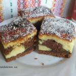 Murzynek z serem. Ciasto czekoladowo serowe. Sernik izaura.