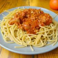Pełnoziarniste spaghetti z indykiem