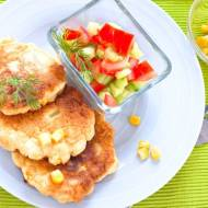 Placki z kukurydzą i salsa :-)