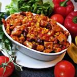Potrawka z kurczaka z kukurydzą i czerwoną fasolą