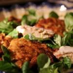 Pyszne placuszki z kurczakiem i warzywami
