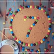 Tort orzechowo-kajmakowy na 7 urodziny bloga