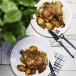 Kurczak pieczony z ziemniakami na sauerkraut